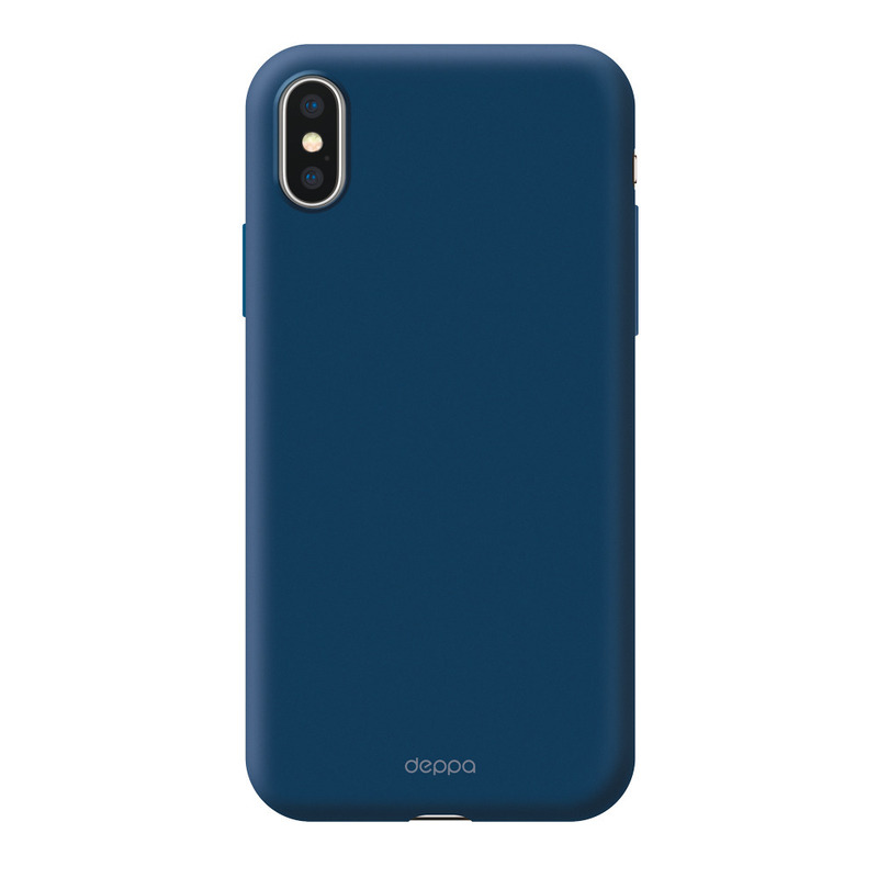 Чехол Air Case  для Apple iPhone X/XS, синий, Deppa 83368