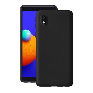 Чехол Gel Color Case для Samsung Galaxy A01 Core (2020), черный, PET синий, Deppa 87691