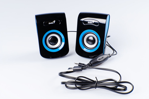 Колонки Genius SP-Q180, 2.0, 2 x 3W RMS, USB-power, Blue