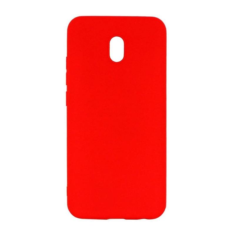 Чехол Gel Color Case для Xiaomi Redmi 8A, красный, PET белый, Deppa 87382